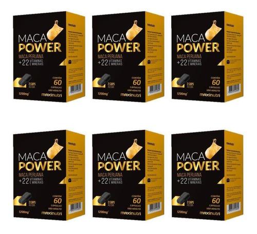 Imagem 1 de 1 de Maxinutri Maca Power Suplemento Vitamínico C/60 (kit C/06)
