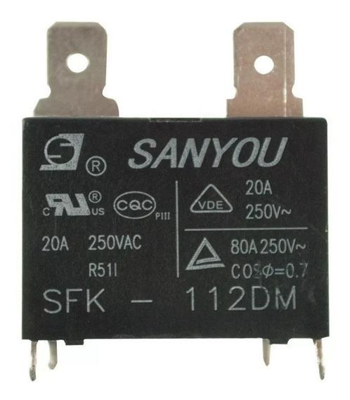 Rele 20a Sanyou Sfk 112dm 12vcc(kit Com 10 Peças Novas)