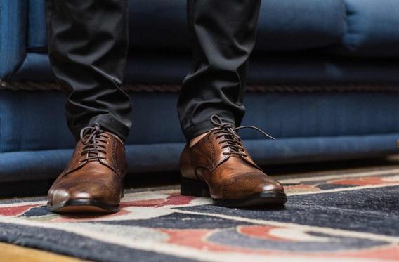Zapato Para Hombre Color Marron De Vestir , Moda