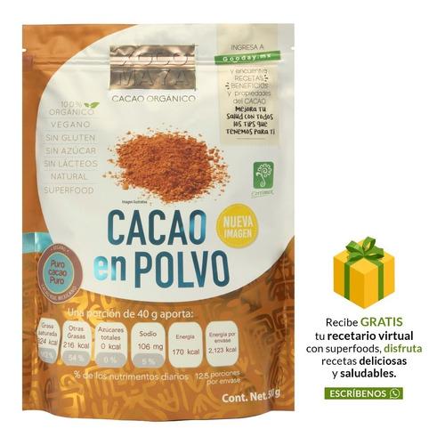 Imagen 1 de 8 de Polvo De Cacao Orgánico 500 G Xoco Maya