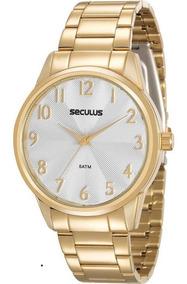 Relógio Seculus Feminino 20567lpsvds1, C/ Garantia E Nf