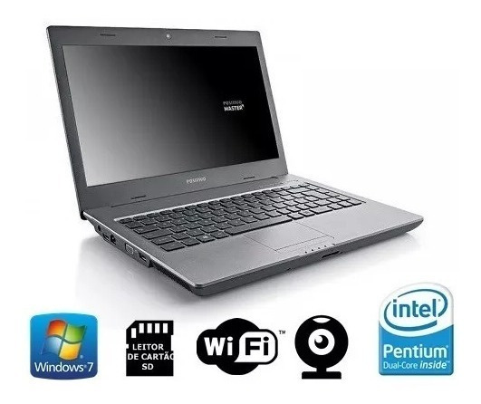 Notebook N110i Positivo Master Pdual Core 2gb Hd 320gb