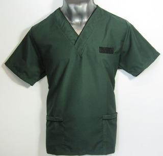 Filipina Quirúrgica Para Caballero Verde Oscuro