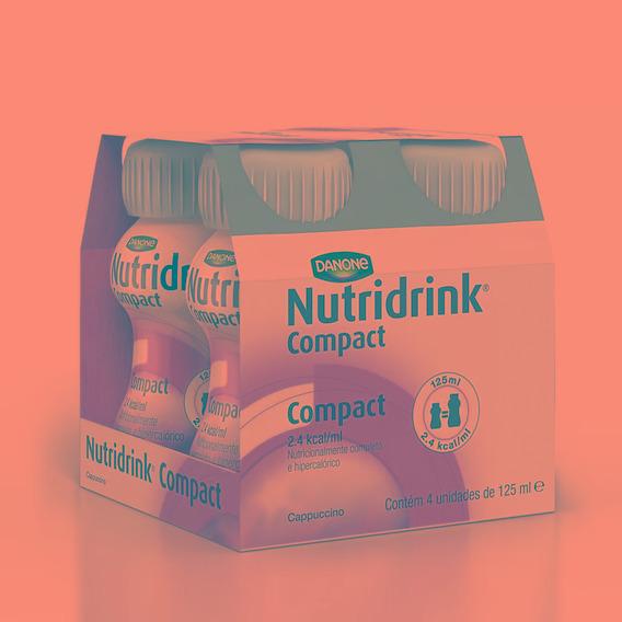 Nutridrink Compact Capuccino C/ 4 Garrafinhas De 125ml Cada
