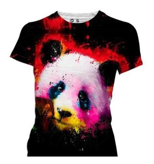 Playera Sublimada, Diseño Panda, Todas Las Tallas
