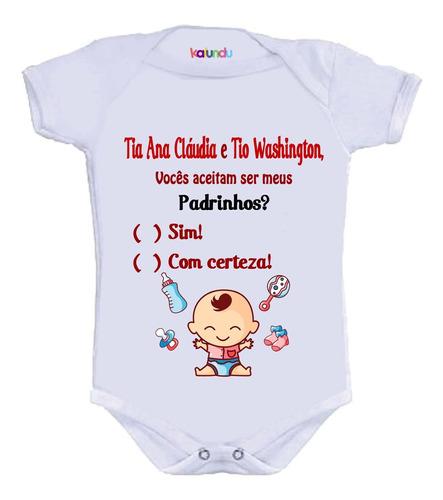 Imagem 1 de 3 de Body Divertido - Convite Padrinhos Bebê