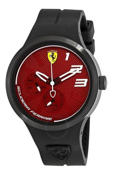 Reloj Ferrari Fxx Cara Roja Correa De Silicon