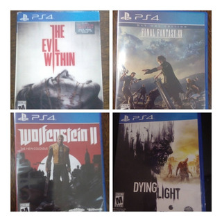 Juego De Ps4 The Evil Within,wolfenstein Ii,final Fantasy Xv