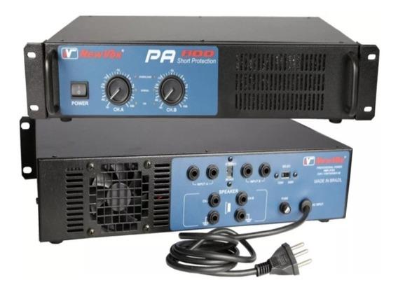 Amplificador Potência New Vox Pa-600 600w Profissional Som