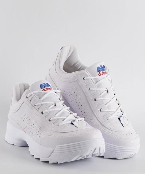 Tenis Chunky Branco Dakota Kicks G0981 Tratorado
