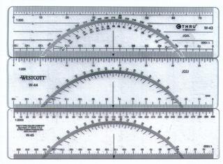 Protactor / Regla Rumbera Para Mapeo Geológico / Topográfico