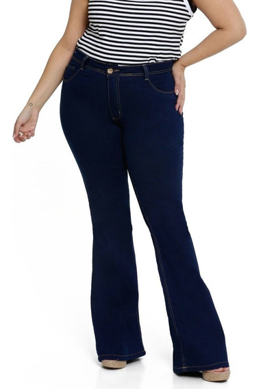 Calça Jeans Flare Plus Size Biotipo