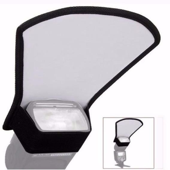 Difusor Para Flash Leque Rebatedor 2 Lados Branco Aluminio