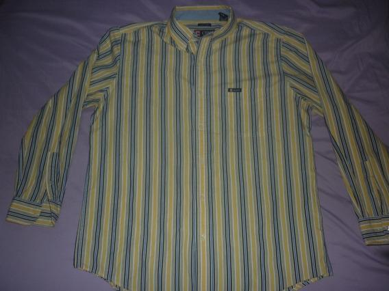 E Camisa Chaps Ralph Lauren Rayada Talle L Art 24682