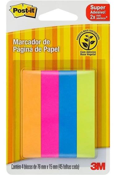 Post-it 3m Flags Papel Sortidos 4 Cores 76mmx15mm 180 Fls