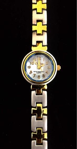 Relógio Feminino Cadina Branco Produto De Mostruário 006