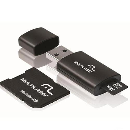Cartão De Memória Multilaser 32gb Classe 10 Com Kit Adaptado