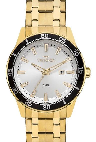 Relógio Technos Dourado Masculino Original Garantia
