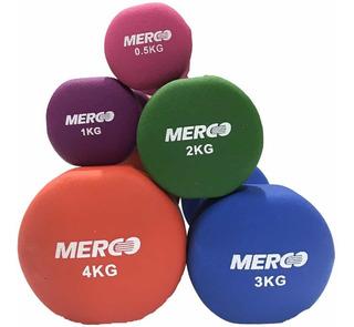 Mancuerna De Neoprene 4 Kg Merco Pesas Original Fitnes Gym