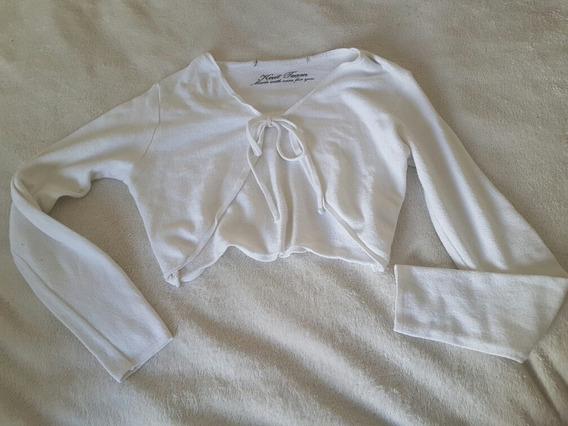 Blusa Cardigan Curto Casaquinho Branco Zara 11 A 13 Anos