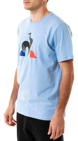 Remera Ess Logo Tee Celeste Hombre Le Coq Sportif