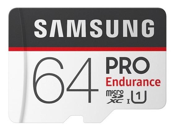 Cartão Micro Sd Samsung Pro Endurance C. Segurança - 64gb