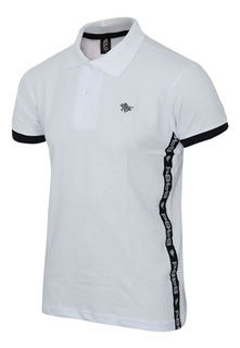 Camisa Polo Rg518 Com Tape Lateral E Logo Em Metal 17565