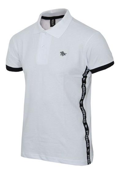 Camisa Polo Rg518 Com Tape Lateral E Logo Em Metal 17565