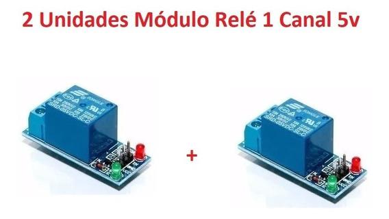2 Unidades Módulo Relé 1 Canal 5v