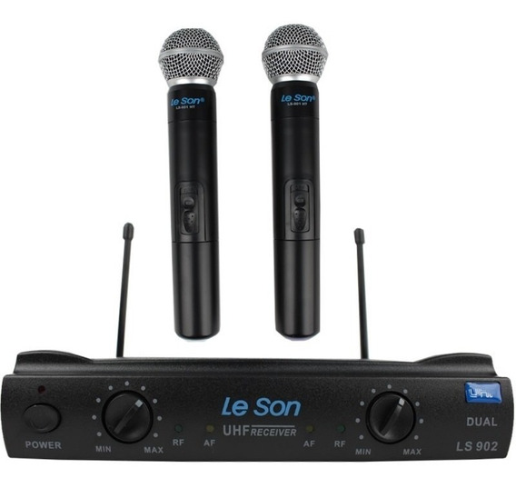 Microfone Duplo Sem Fio Leson Ls 902