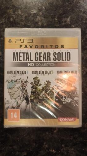 Metal Gear Solid Hd Collection Ps3 Novo Lacrado