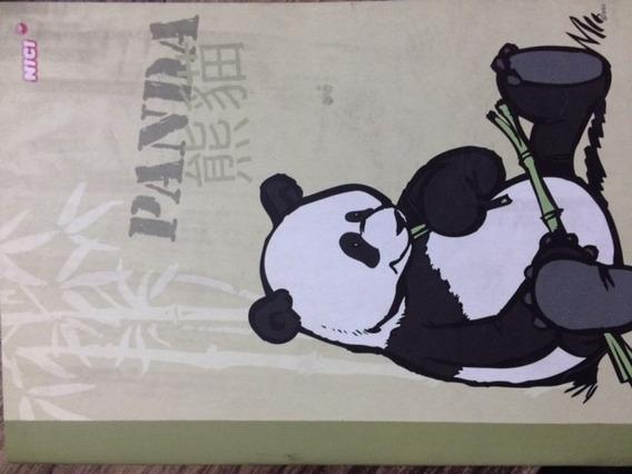 Caderno A5 Pautado Nici Panda 40 Folhas