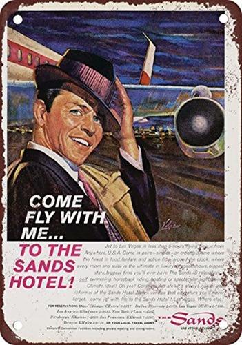 Cartel De Metal Estaño Signo De Frank Sinatra 8x 12inches