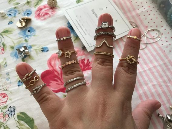 Kit Com 5 Lindos Anéis - Escolha Os Seus!