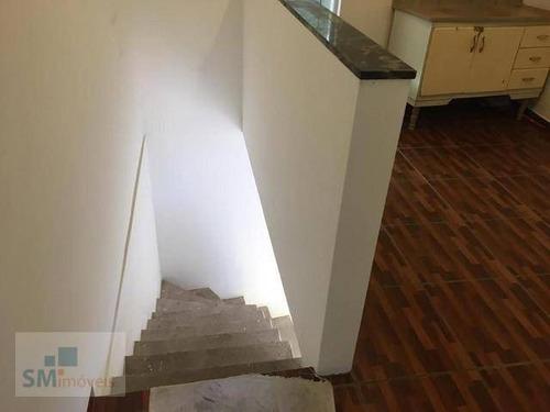 Casa Com 1 Dormitório Para Alugar, 50 M² Por R$ 750,00/mês - Cidade Recreio Da Borda Do Campo - Santo André/sp - Ca0410