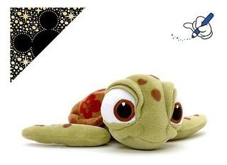Peluche Squirt Pequeño De Buscando A Nemo
