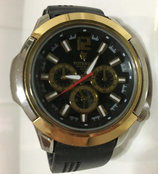 Relógio Potenzia, Alarme Cronógrafo, Antigo, Quartz+ Brinde