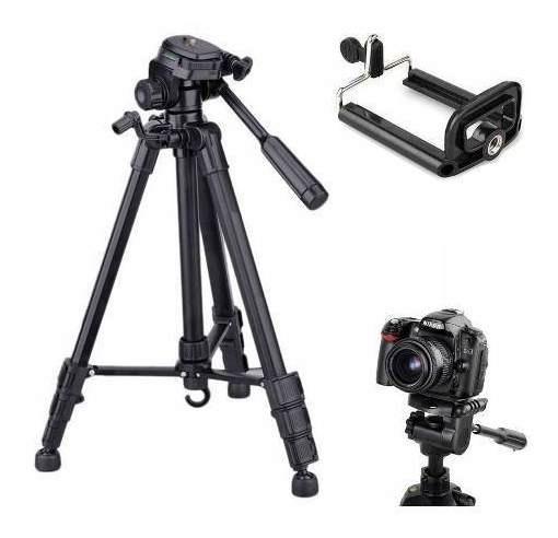 Tripé Universal Fotográfico Canon Nikon 1.80 Mts + Suporte