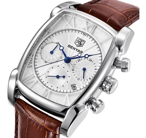 Homens Relógio De Quartzo Business Benyar Branco