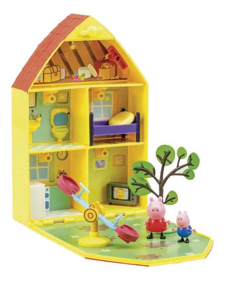Playset E Mini Figuras - Peppa Pig - Casa Com Jardim Da Pep