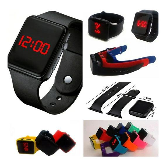 Kit 10 Relógio Feminino/masculino Digital Silicone Atacado