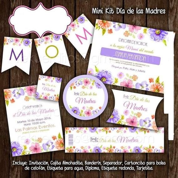 Kit Imprimible Y Tarjetas Día De Las Madres 10 De Mayo 2x1