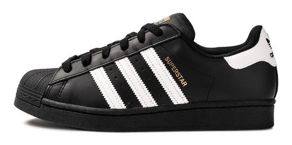 Tenis adidas Superstar Preto Clássico Original. Em Promoção.
