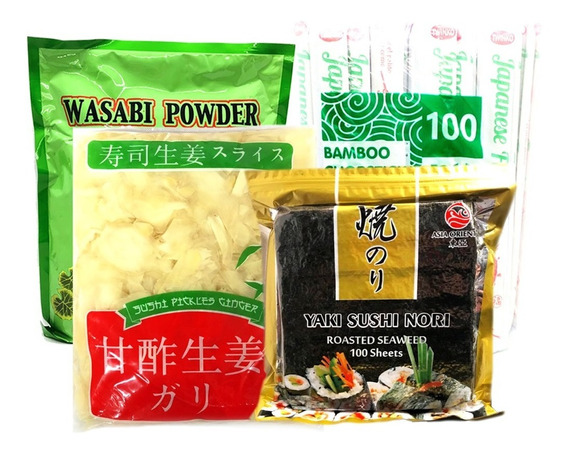 Mix Sushi Algas+ Palitos + Wasabi + Jengibre + Envio Gratis
