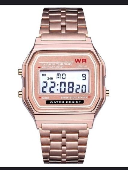 Relógio Digital Rosê