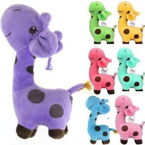 Girafa Girafinha Do Bebê Várias Cores Pelúcia Promoção!