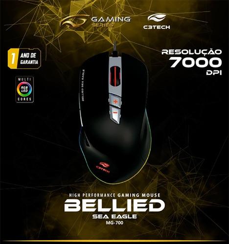 Mouse Gamer Rgb, 7000 Dpi, Mg-700bk - C3 Tech | Mercado Livre