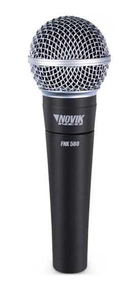 Microfone Profissional Dinâmico Fnk580 Novikneo.