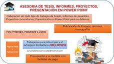 Tesis, Informes Y Presentaciones En Power Point