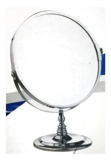 Espejo Maquillaje Afeitado Doble Faz 3x Aumento Giro 360